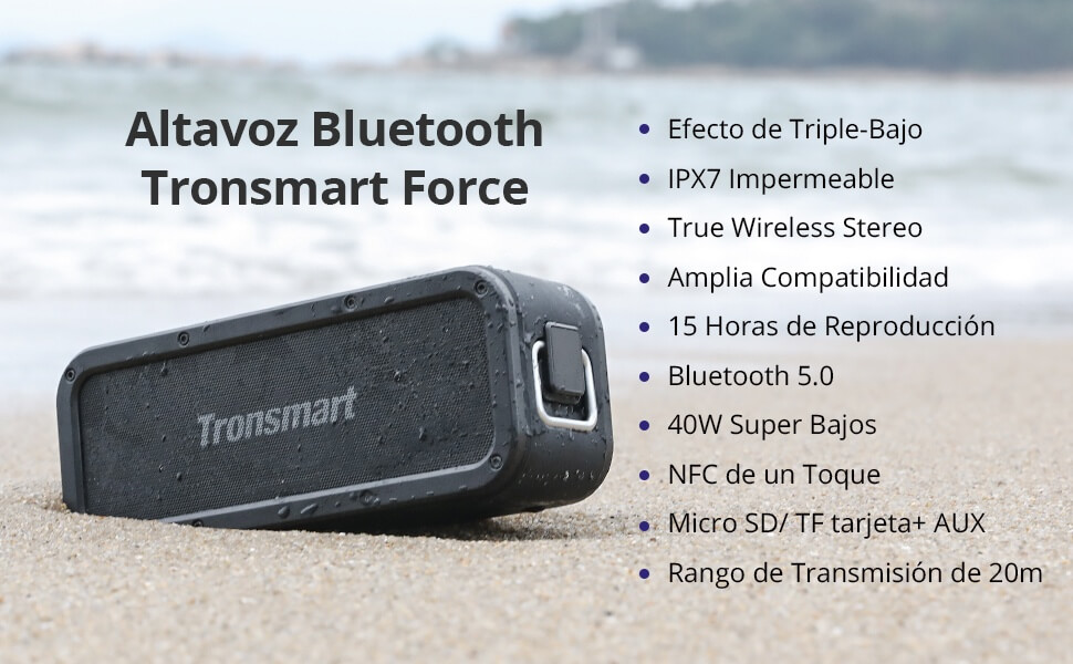 altavoz-Bluetooth-Tronsmart-Force